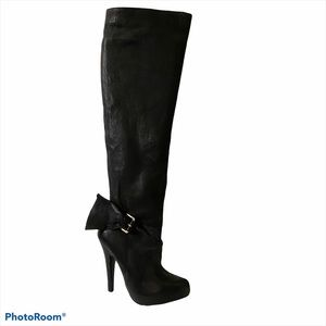 Report Signature black knee high leather boots